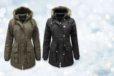 Nothing New 2 Wear - Ladies military style parka jacket choose from two colours - Save 76%
