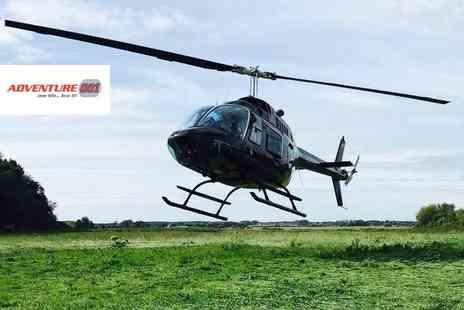 Adventure 001 - 6 mile helicopter buzz flight for two with chocolates and a glass of bubbly each - Save 50%