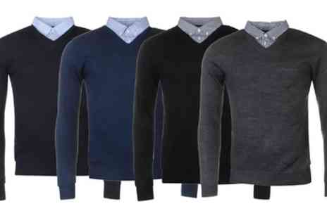 Groupon Goods Global GmbH - Pierre Cardin Mock V Neck Jumper - Save 0%