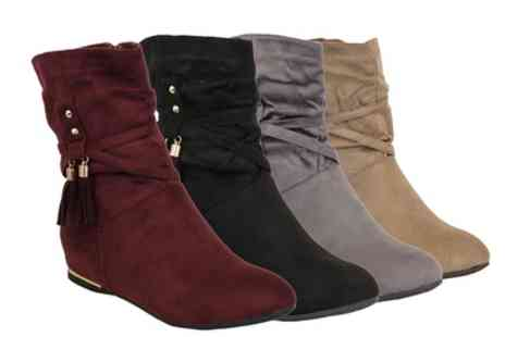 Groupon Goods Global GmbH - Womens Suede Style Mid Calf Chelsea Boots - Save 0%