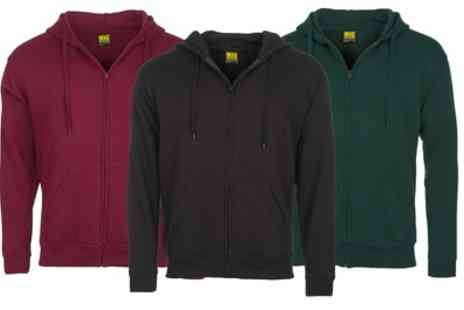 Groupon Goods Global GmbH - Mig Mens Classic Zipped Hoodie in Choice of Colour - Save 0%
