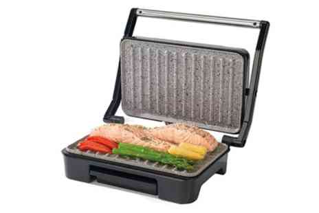Groupon Goods Global GmbH - Salter EK2009 Marble Collection Ceramic Health Grill and Panini Maker - Save 58%