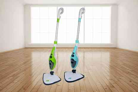 Groupon Goods Global GmbH - 10 in 1 1500W Steam Mop Cleaner with Optional Extra Pad Packs - Save 75%