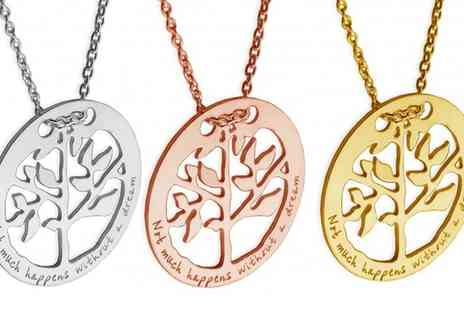 Jewells House - One, Two or Three Tree in Ring Necklaces with Engravings With Free Delivery - Save 71%
