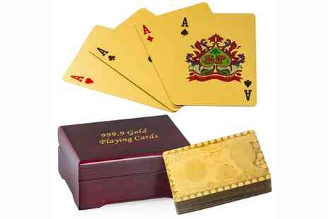 Groupon Goods Global GmbH - Gold Plated Flexible Playing Cards - Save 50%