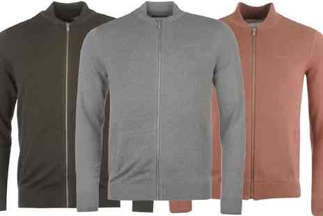 Groupon Goods Global GmbH - Pierre Cardin Mens Knitted Bomber Jersey - Save 0%