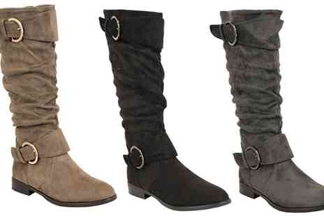 Groupon Goods Global GmbH - Fleece Lined Suede Style Long Womens Boots - Save 0%