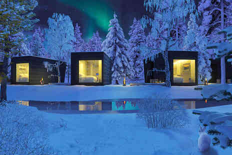Short Luxury Finnish Experience - Unique Wilderness Design Huts and Luxury City Hotel - Save 84%