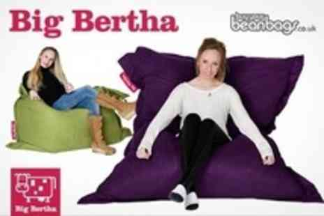 BuyYourBeanBags.co.uk - Three Big Bertha XL Beanbag In Choice Of 10 Colours - Save 77%