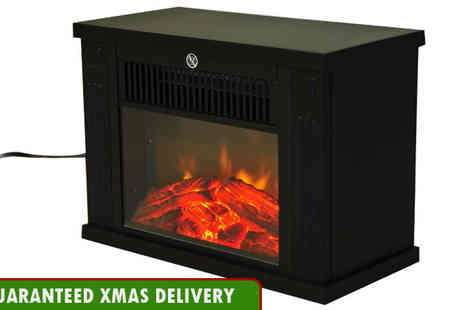 Mhstar - Freestanding LED Flame Electric Fireplace - Save 50%