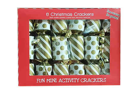 CheekyBox - 12 x Mini Christmas Crackers - Save 69%