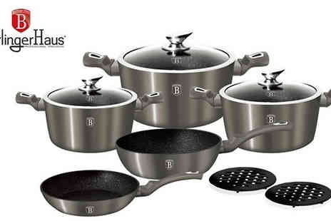 Goods Direct - Berlinger Haus 10 Piece Cookware Set 2 Colours - Save 0%