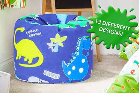 Shopisfy - Childrens filled bean bag chair choose from 13 fun designs - Save 60%