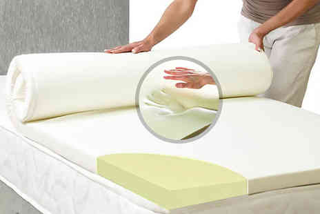 My Mattress Online - Small, small double or double or king size single or single cool blue mattress topper - Save 70%