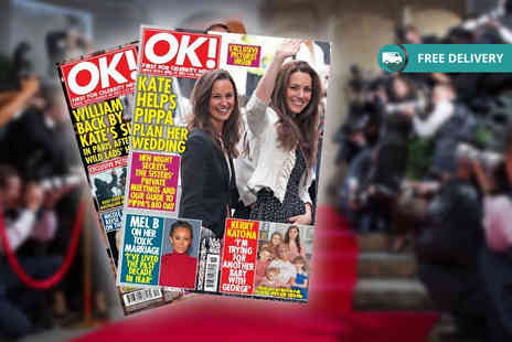 Northern and Shell - Six month 26 issue subscription to OK Magazine with delivery included - Save 66%