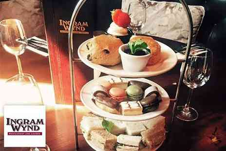 Ingram Wynd - Afternoon tea for two or include a mini bottle of Prosecco each - Save 50%