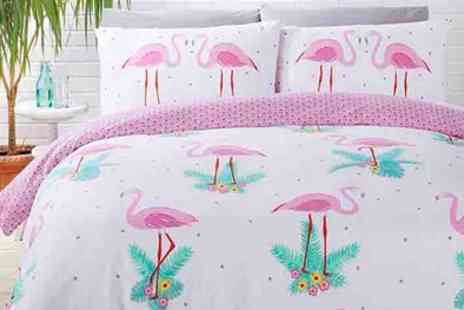 Groupon Goods Global GmbH - Rapport Home Easy Care Reversible Duvet Cover Set in Choice of Design and Size - Save 73%
