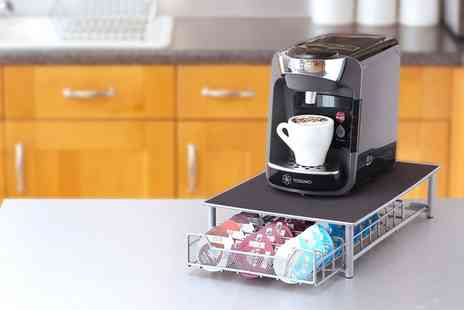 Groupon Goods Global GmbH - Coffee Machine Stand with Tassimo Compatible Coffee Capsule Holder - Save 74%