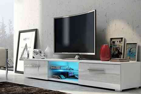 Groupon Goods Global GmbH - Selsey Edith TV Cabinet with Led Lighting in Choice of Colour With Free Delivery - Save 57%