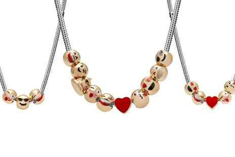 Groupon Goods Global GmbH - Smiley Emoji Necklace  with Three, Five or Ten Charms - Save 90%