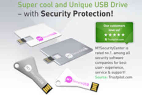 My Security Center - A unique USB drive with military encryption - Save 65%
