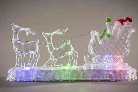 Ricomex - Multicoloured Santa Sleigh Light Decoration - Save 0%