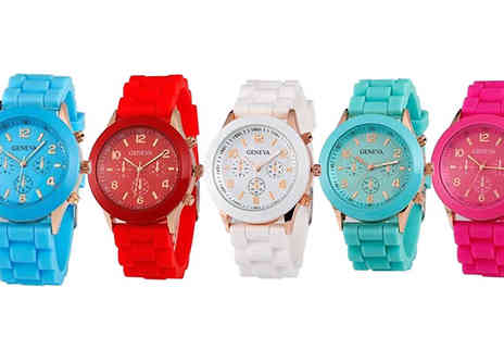 TigerZilla Trading - Unisex Soft Gel Quartz Watch Available in 5 Colours - Save 54%