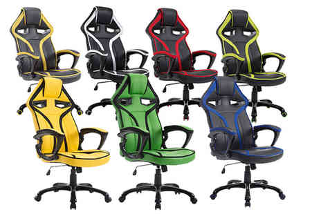 FDS Corporation - Roadster racing car office chair - Save 51%