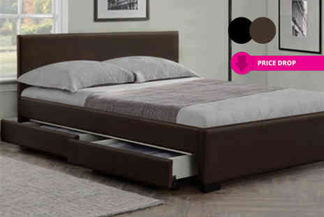 Giomani Designs - Double modern Italian storage bed, with a limited number available or with mattress - Save 85%