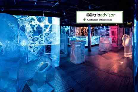ICEBAR London - Bar entry and drink and a three course meal with Aperitif cocktail per person - Save 35%