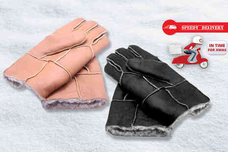 MC California USA - Pair of mens winter gloves choose from tan or black in three styles - Save 77%