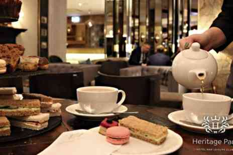 Heritage Park Hotel - Traditional or Sparkling Afternoon Tea with Optional Spa Access for Two or Four - Save 29%