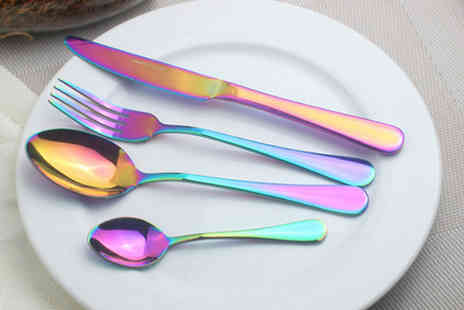 Goods Direct - Holographic Cutlery Set  8 or 16 - Save 57%