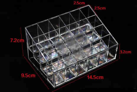 Graboom - 24 Slot Clear Acrylic Makeup Organiser - Save 69%