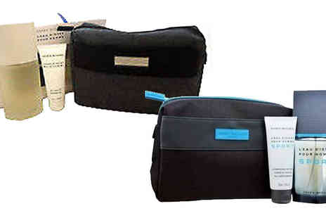 Fragrance and Cosmetics - Issey Miyake Wash Bag, Edt & Shower Gel Gift Sets Choose 2 Options - Save 24%