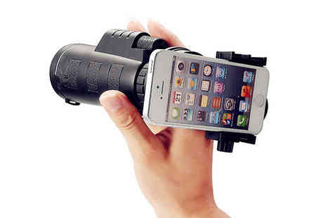 Goods Direct - Monocular Telescope With Smartphone Attachment - Save 60%