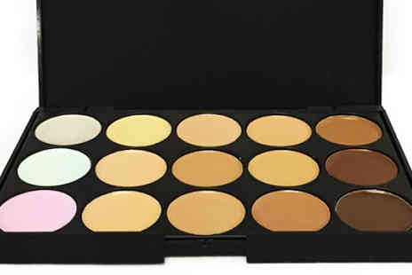 Forever Cosmetics - 15 Shade Contouring Palette Plus 20 Piece Makeup Brush Set - Save 92%