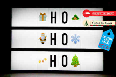 Black Feather - A4 Christmas emoji LED light up box - Save 75%