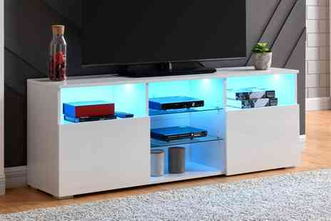 Groupon Goods Global GmbH - Zurich Led Tv Cabinet With Free Delivery - Save 50%
