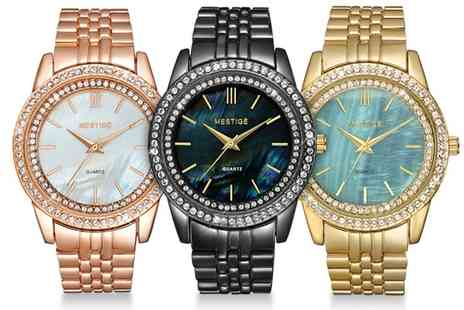 Neverland Sales - Mestige The Mariel Womens Watch with Crystals from Swarovski With Free Delivery - Save 71%