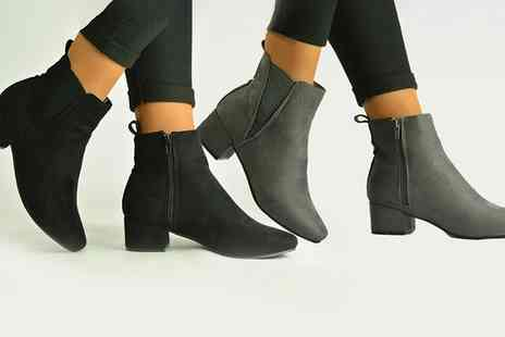 Groupon Goods Global GmbH - Faux Suede Ankle Womens Boots - Save 0%