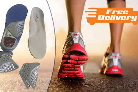 Sole Control - Tri Arch Support Full Length Orthotic Insoles with Free Delivery - Save 83%