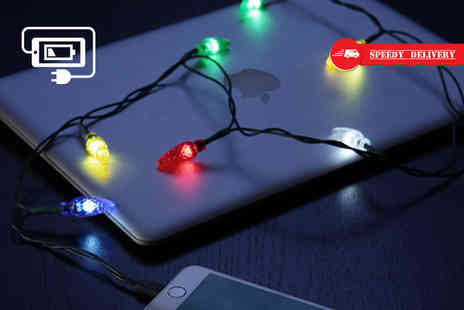 Treats on Trend - Christmas lights iPhone charging cable - Save 75%