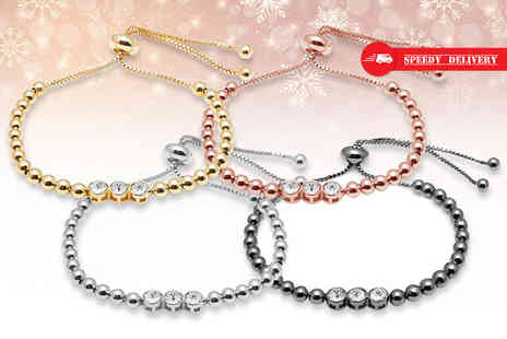 Lily Spencer - Beaded friendship bracelet with crystals from Swarovski choose from four colours - Save 76%