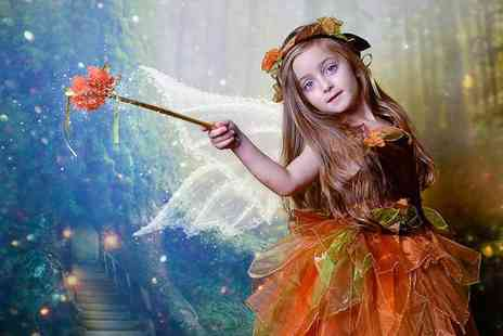 "Glasgow Family Photography - One hour fairies and elves themed photoshoot for up to six children with image retouching, two 8""x6"" and three 5""x7"" prints, and a £50 voucher - Save 94%"
