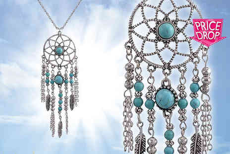 Your Ideal Gift - Dream catcher pendant necklace - Save 80%