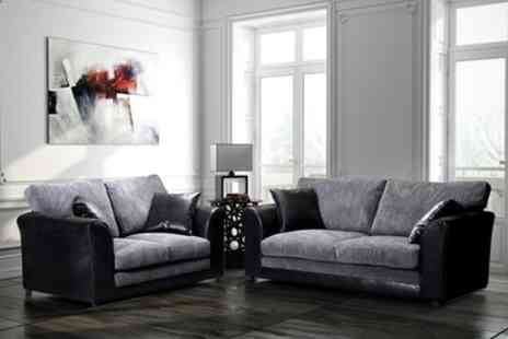Groupon Goods Global GmbH - Malvern Fabric Sofa Range With Free Delivery - Save 45%