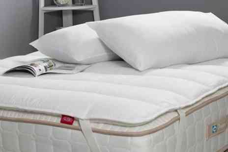 Groupon Goods Global GmbH - Sealy Comfort Plus Mattress Topper and Pillow Set in Choice of Size - Save 77%