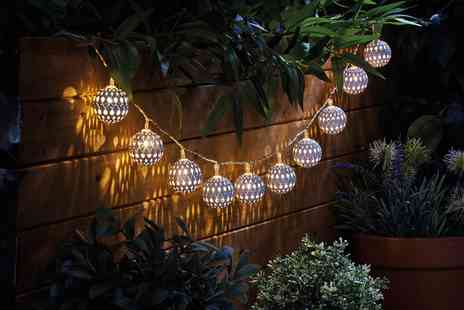 Groupon Goods Global GmbH - One, Two or Four Moroccan Style Battery Powered Led String Light Sets - Save 70%