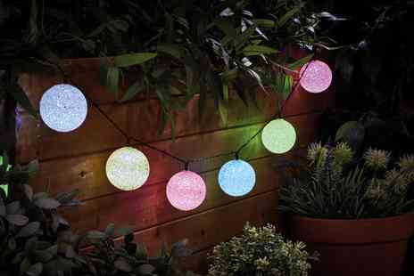 Groupon Goods Global GmbH - 10, 20 or 40 Multi Coloured Ball String Led Lights - Save 65%